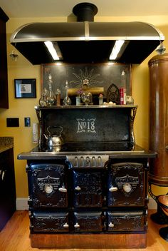 Crazy-cool mod of a 19th-century Defiance No. 18 wood-burning stove made by the J. L. Mott Iron Works by Bruce and Melanie Rosenbaum of Mod Vic. The entire article is worth your time.