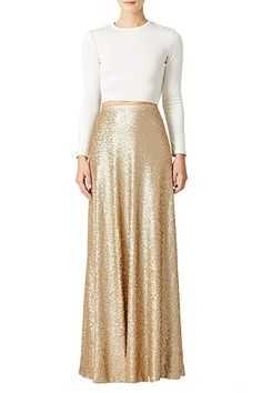 New Honey Qiao Women?s Maxi Wedding Party Skirts Gold Sequin Holiday Formal Skirt online - Newforbuy Maxis, Gold Sequin Skirt, Long Gold Skirt, Sequin Fabric, Gold Sequins, Christmas Skirt, Christmas Outfits, Bubble Skirt, Formal Skirt