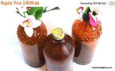 MAY SALE Purex Brown Bleach Bottles Vintage Amber Purex