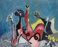 , Oil by Jackson Pollock (1912-1956, United States)