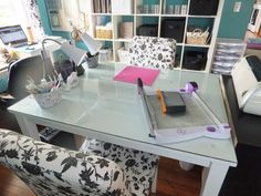 cozy chairs & glass table top