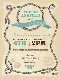 View Vector Art of Rustic Rope Nautical Or Country Frame Invitation Design Template. Find premium, high-resolution photos at Getty Images. Invitation Design, Invitations, Rope Frame, Book And Magazine, Free Vector Art, Label Design, Identity Design, Magazine Design, Graphic Design Inspiration