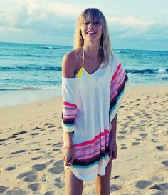 LOVE at first sight.  Roxy Beach blanket coverup