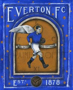 Everton FC - Everton Devine Limited Edition Print by Paine Proffitt Liverpool History, Liverpool Home, British Football, Football Art, Goodison Park, Everton Fc, Barclay Premier League, Sports Art, Posters
