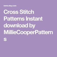 Cross Stitch Patterns  Instant download by MillieCooperPatterns