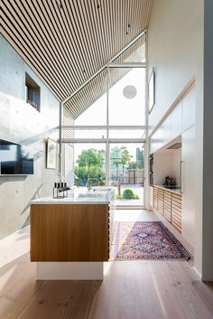 Image 5 of 18 from gallery of Villa P / N+P Architecture. Photograph by Andreas Mikkel Hansen Kitchen Furniture, Kitchen Interior, Kitchen Design, Eclectic Kitchen, Plywood Furniture, Modern Furniture, Furniture Design, Modern Home Interior Design, Interior Architecture