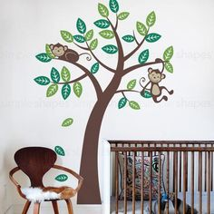 Add our very popular Tree with Monkeys to finish off your nature themed baby…