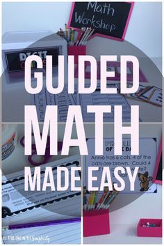 Guided math made easy.  Everything you need to make your lesson planning as easy as printing and implementing!  Each guided math unit contains the same components. The consistency of the components will allow students, as well as the teacher, to become familiar with the routines.  Yes, Guided Math can be easy!