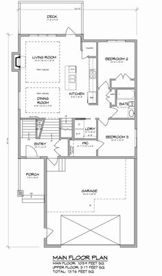 This 1572 sq ft custom built modified bi level features for Modified bi level floor plans