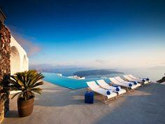 Grace Santorini, Imerovigli, Greece Santorini Hotels, Imerovigli Santorini, Greece Hotels, Santorini Greece, Most Luxurious Hotels, Hotels And Resorts, Best Hotels, Villa, Pool Lounge Chairs