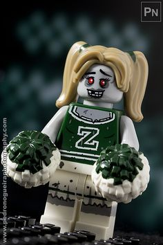 """Series 14 - Zombie"" Cheerleader Minifigures Series 14 My LEGO. Pedro Nogueira Photography."