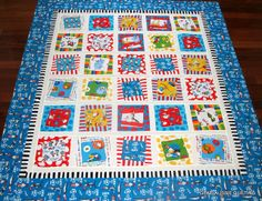 Dr. Seuss Quilt Top Finished by goneaussiequilting, via Flickr