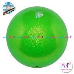 #Pelota de Gimnasia #Rítmica Pastorelli glitter-HV-verde