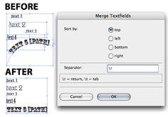 Merge Text Extension for Adobe Illustrator