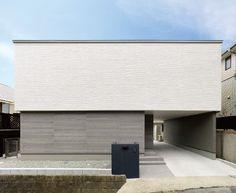 【検索結果】わが家の壁サイト-外観・内壁コーディネートサイト(ニチハの住宅施工例集)- Interior Design Your Home, Modern Patio Design, Small House Exteriors, Small Buildings, Flat Roof, Japanese House, Garage House, Modern Architecture, Facade