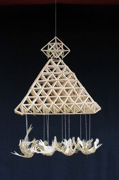Straw Projects, Diy Projects To Try, Cosmos, Straw Decorations, Paper Chandelier, Bedroom Minimalist, Straw Art, Straw Weaving, Diy And Crafts