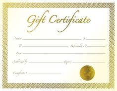 Professional Gift Certificate Template  Gift Certificate Template