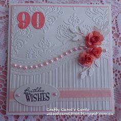 All Occasions Embossing Folder Cherry Lynn Designs - Medium Rose Avery Elle Elle-Ment - Count On It Cheery Lynn Design - Flourish Leaf Strip Ribbon and pearls