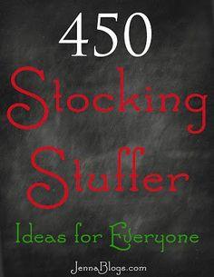 Jenna Blogs: 450 Stocking Stuffer Ideas! jennablogs.com