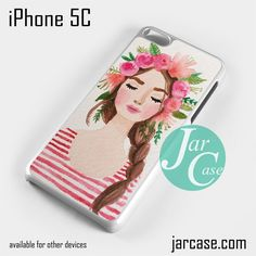 Girl With Flower Crown Phone case for iPhone 5C and other iPhone devices