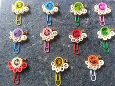 """Paper Clip  . . #limequilling #paperquilling #paperart #handmade #paperclip"""