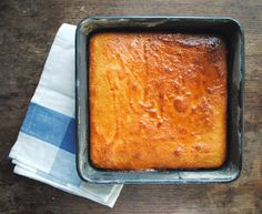 Cypriot Semolina Cake Recipe adapted from Falling Cloudberries by Tessa Kiros. Greek Sweets, Greek Desserts, Greek Recipes, Greek Cake, Cyprus Food, Semolina Cake, B Recipe, Greek Cooking, Greek Dishes