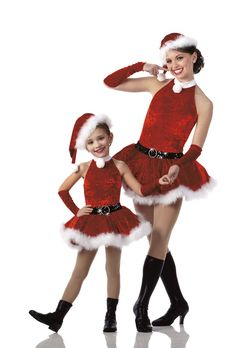 SANTA'S HELPER Dress Only CHRISTMAS Dance Ice Skating Costume Adult Large USA #Cicci