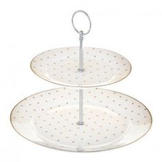Miss Darcy Two Tier Cake Stand & Carrier - White with Gold Spots by Bombay Duck, http://www.amazon.co.uk/dp/B009G6K6AS/ref=cm_sw_r_pi_dp_cR2dtb0CCRGQT
