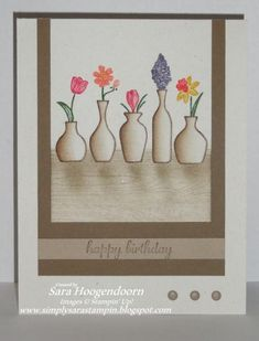 Vivid Vases by shoogendoorn - Cards and Paper Crafts at Splitcoaststampers