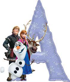 Elsa Frozen, Scrapbook Da Disney, Letras Abcd, Frozen Party Decorations, Printable Alphabet Letters, Disney Frozen Birthday, Minnie Png, Birthday Letters, Disney Images