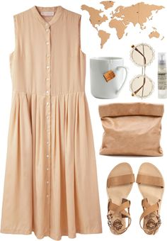 """""""Beige"""" by vv0lf ❤ liked on Polyvore"""