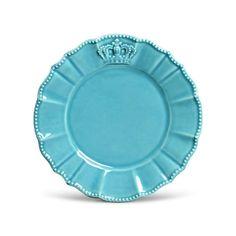 Prato Sobremesa Windsor Poppy Premium Porto Brasil Cerâmica Azul  20,5cm - Porto Brasil com o melhor preço é no Walmart!