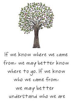 Si sabemos de donde venimos, sabremos mejor a donde vamos. Si sabemos porque venimos entenderemos mejor quienes somos.