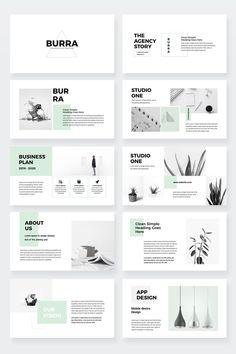 Burra – Clean Simple PowerPoint Presentation Template – Famous Last Words Portfolio Design Layouts, Page Layout Design, Template Portfolio, Design Portfolios, Product Design Portfolio, Site Web Design, Graphisches Design, Slide Design, Clean Design