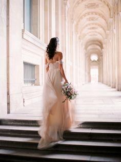Wedding Photography Ideas : Paris Elopement & Wedding Inspiration: Photos by Le Secret DAudrey Elope Wedding, Wedding Blog, Wedding Gowns, Dream Wedding, Wedding Engagement, Elopement Wedding, Engagement Photos, Wedding Events, Bridal Gowns