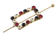 broches en métal avec cristaux Swarovski