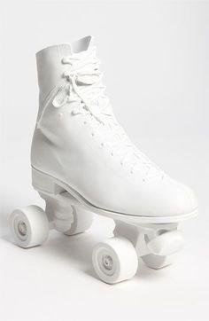 All White Roller Skates! Pure White, White Light, Snow White, Black And White, White Roller Skates, Monochrome, Blanco White, Roller Skating, Roller Rink