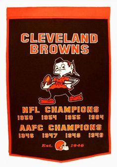 Let's go Cleveland Browns! Ready to add 2014 to this!!! :)
