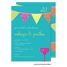 These adorable fiesta invitations make me want to throw a fiesta! Couples Shower Invitations, Rehearsal Dinner Invitations, Party Invitations, Invites, Mexican Bridal Showers, Fiestas Party, Bride Shower, Fine Stationery, Couple Shower