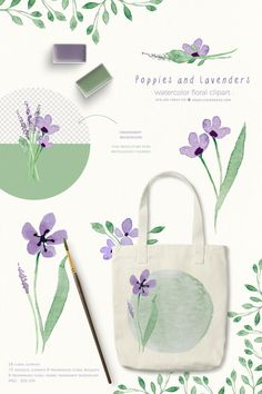 Lavender Watercolor Flowers Clipart Poppy Watercolor Floral by Angelica Venegas #watercolor #lavender #lilacflowers #watercolorclipart #wedding #weddingclipart #bridalclipart #clipart #floralclipart #poppy #watercolorpoppy #poppies #watercolorpoppy Watercolor Poppies, Wreath Watercolor, Watercolor Illustration, Lilac Flowers, Vintage Flowers, Wreath Drawing, Flower Invitation, Color Harmony, Freelance Graphic Design
