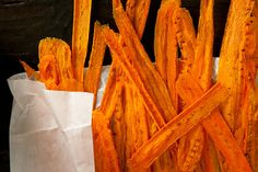 Carrot Chips. I have a TON coming out of garden right now so this is a perfect solution!