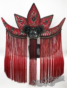 Large Red Horn Headdress Miss G Designs