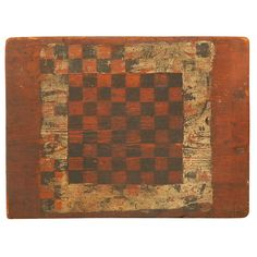 19THC  ONE BOARD  GAMEBOARD | From a unique collection of antique and modern game boards at https://www.1stdibs.com/furniture/folk-art/game-boards/