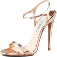 Eva Longoria wearing Prada Capretto Leather Sandals