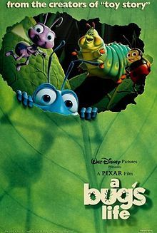 A Bug's Life is so cute. I like it when the insects jump up and down on the clover leaves. :)