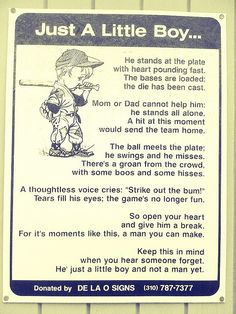 Just a little boy... Love this!