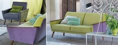 Wedge Chair (plus couch), designers guild. Gorgeous set, lovely model + material, one by itself would be pretty good.