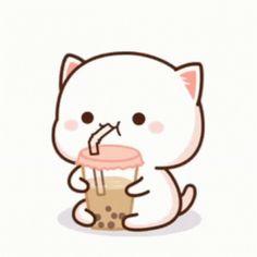 The perfect Cat BubbleTea MilkTea Animated GIF for your conversation. Discover and Share the best GIFs on Tenor. Cute Bear Drawings, Cute Animal Drawings Kawaii, Cute Cartoon Drawings, Sinchan Cartoon, Cute Cartoon Pictures, Cute Love Cartoons, Dark Wallpaper Iphone, Cute Cat Wallpaper, Cute Anime Cat