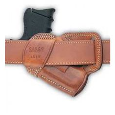 Galco Small of Back Holster Right Hand Black Glk 26, 27 Leather SOB286B