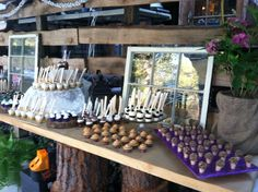 outdoor Dessert Bar - would be great with Thai treats